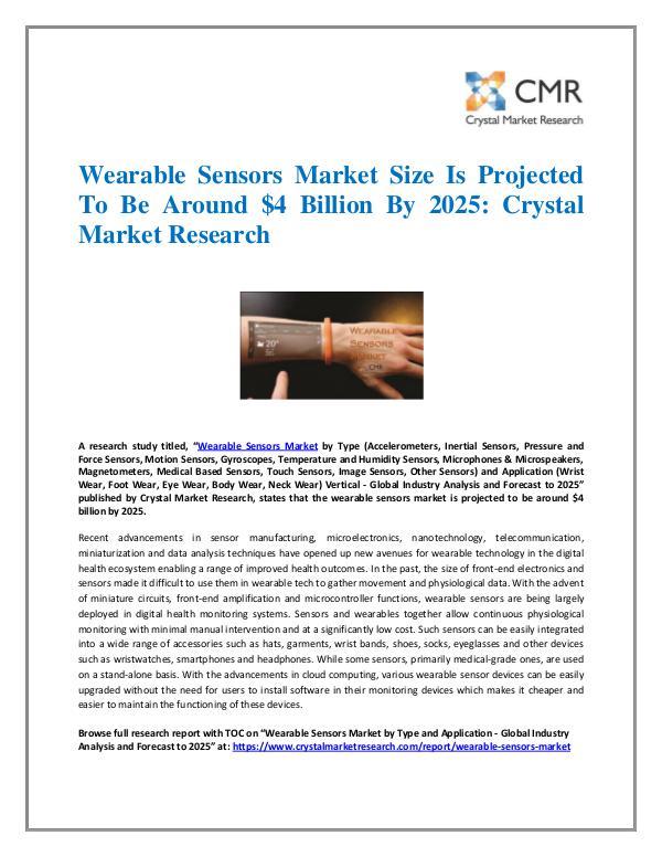 Wearable Sensors Market