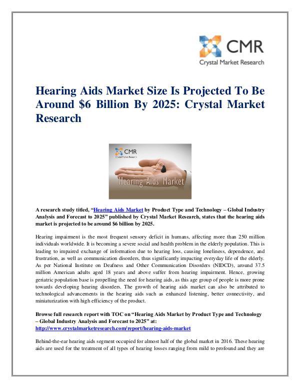Hearing Aids Market