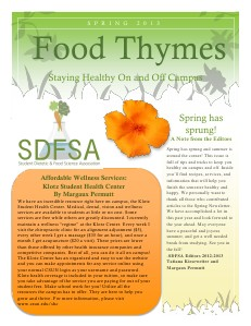 Food for Thought Spring 2013