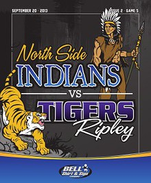 North Side High School Football - Game Program