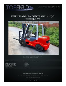 EMPILHADEIRAS CONTRABALANÇO DIESEL 3.5T