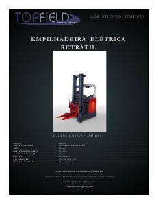 EMPILHADEIRA ELÉTRICA RETRÁTIL