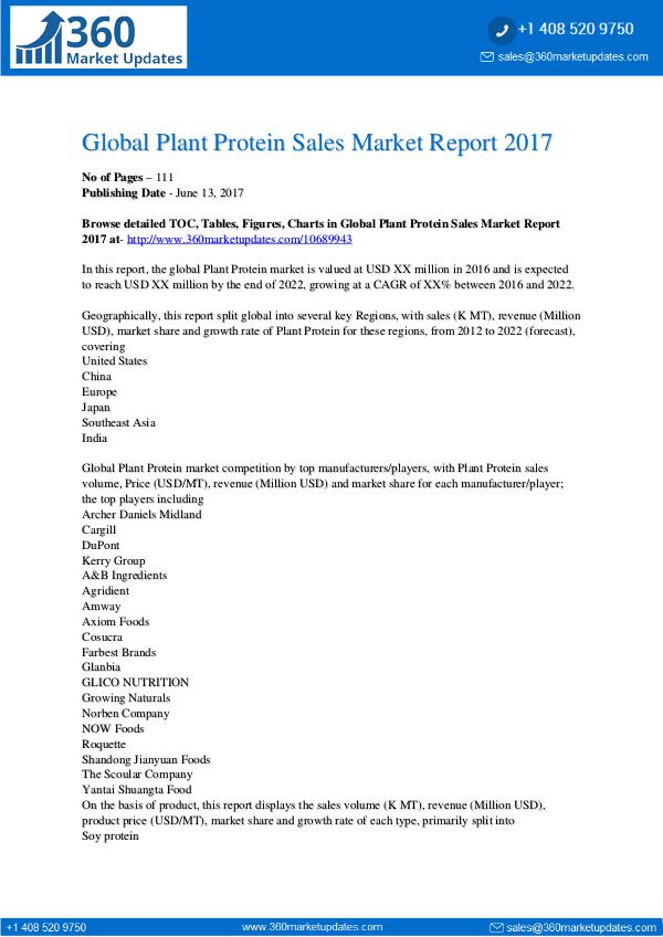 Global-Plant-Protein-Sales-Market-Report-2017