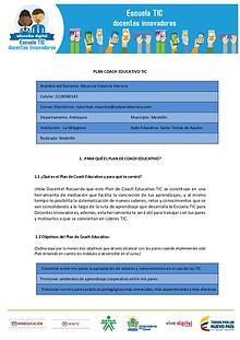 Plan Coaching Educativo
