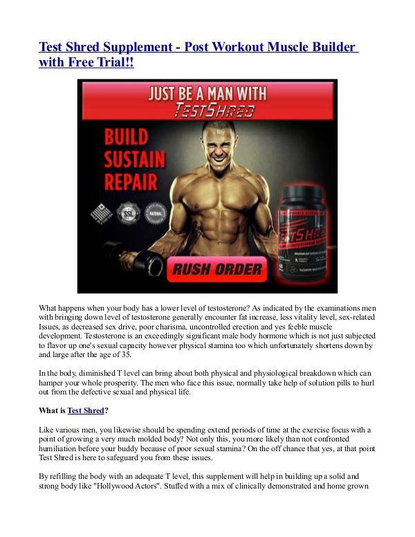 Test Shred Supplement - Post Workout Muscle Builde
