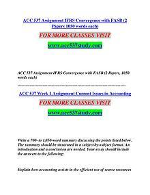 ACC 537 STUDY Start With a Dream /acc537study.com