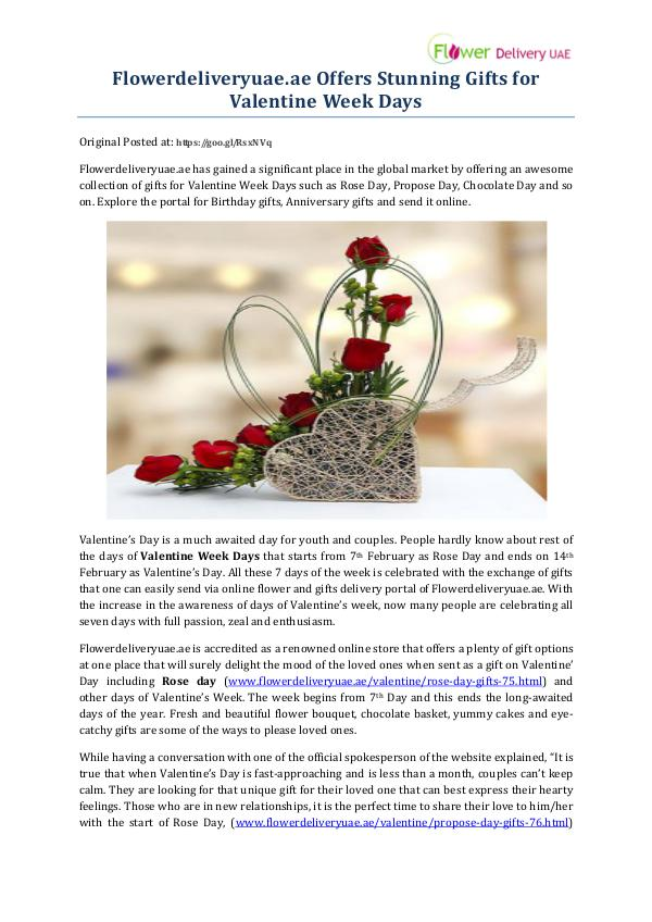 Flowerdeliveryuae.ae Offers Stunning Gifts for Valentine Week Days Flowerdeliveryuae.ae Offers Stunning Gifts for Val