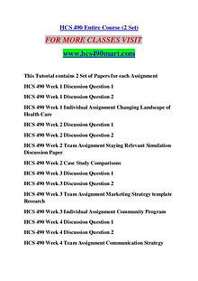 HCS 490 MART Keep Learning /hcs490mart.com