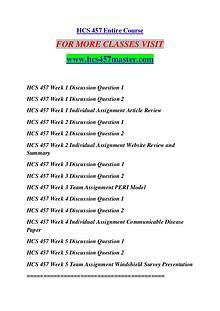 HCS 457 MASTER Keep Learning /hcs457master.com