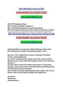 HCS 478 EDU Keep Learning /hcs478edu.com