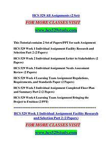 HCS 529 STUDY Keep Learning /hcs529study.com