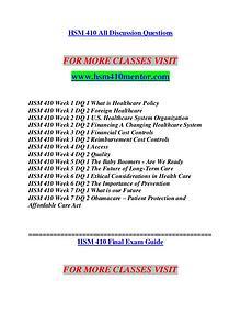 HSM 410 MENTOR Imagine Your Future /hsm410mentor.com
