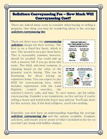 Solicitors Conveyancing Fee – How Much Will Conveyancing Cost?