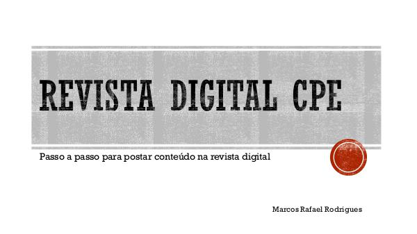 Passo a passo Revista digital CPE