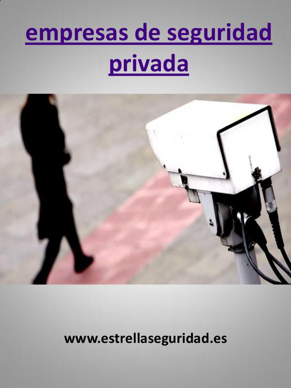 My first Magazine empresas de seguridad privada