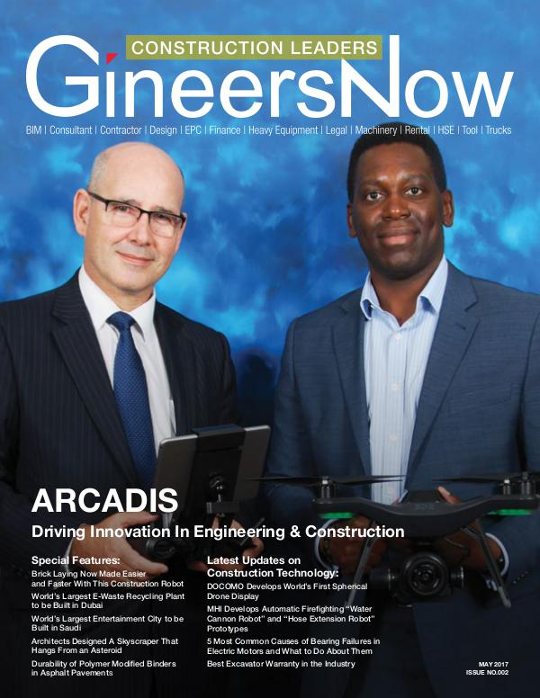 Arcadis Construction, Engineering & Design by GineersNow Drones & Technologies in Construction Industry