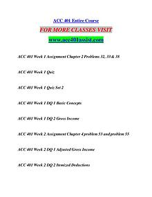 ACC 401 ASSIST Start With a Dream /acc401assist.com