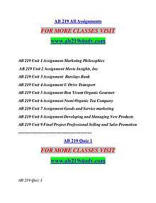 AB 219 STUDY  Start With a Dream /ab219study.com