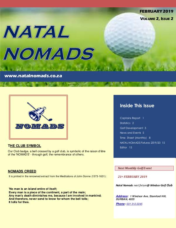 Newsletter  Umhlali Golf Club  February  2019