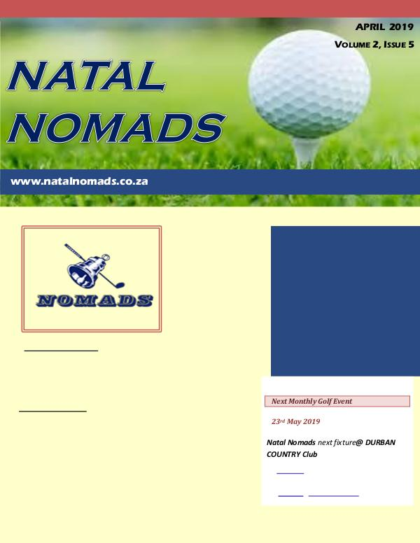 NATAL NOMADS Golf Club Monthly issue Newsletter Zimbali Golf Club  Volume 2  Issue 5  2