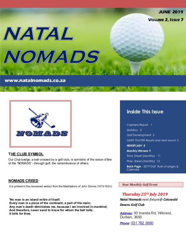 Newsletter Kloof Country Club Volume 2 Issue 7 201