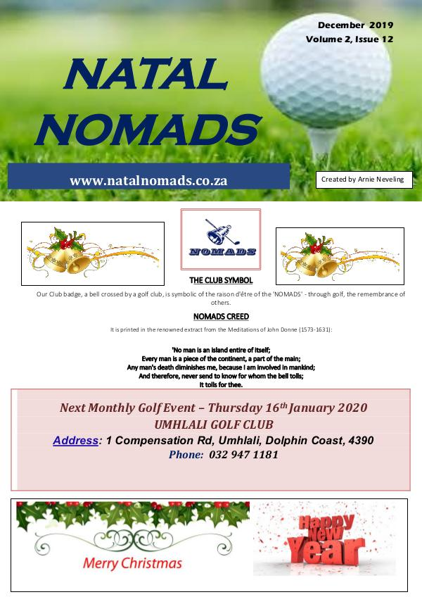 Nomads Newsletter Beachwood Golf Club Volume 2 Iss
