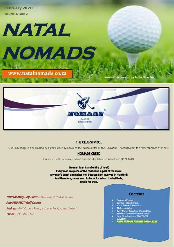 Natal Nomads Newsletter Windsor Park Golf Club Feb