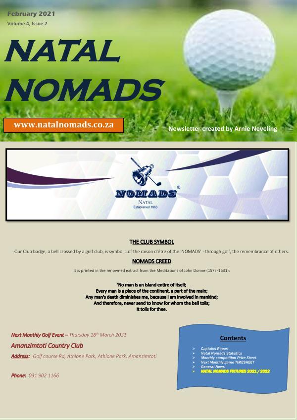Natal Nomads Golf Newsletter February 2021