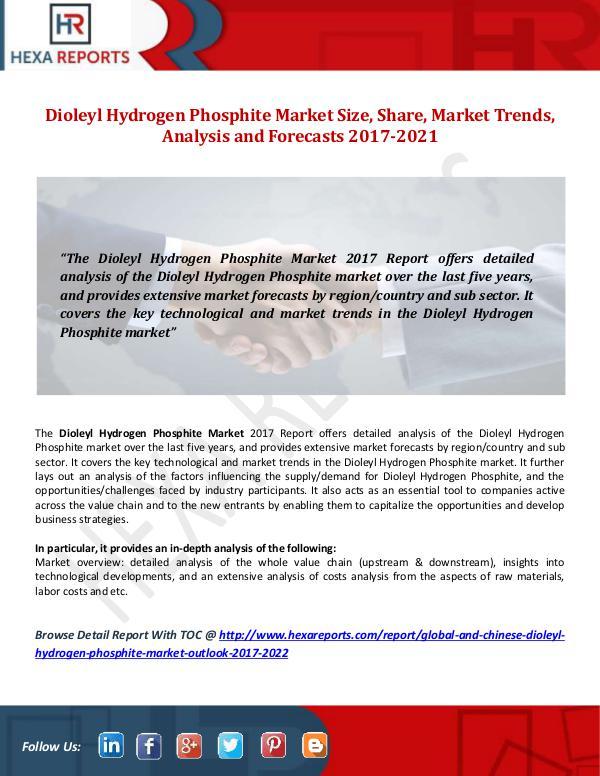 Hexa Reports Dioleyl Hydrogen Phosphite Market