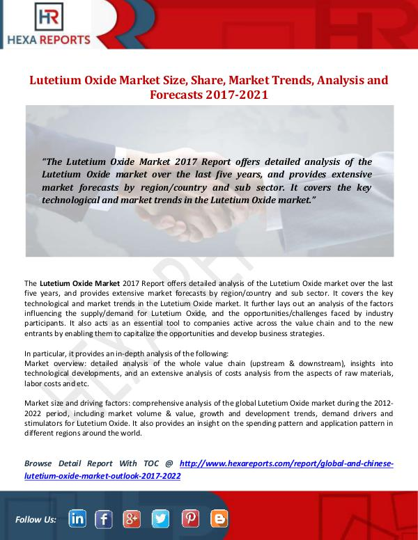 Lutetium Oxide Market