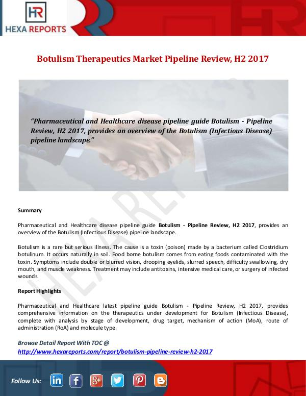 Botulism Therapeutics Market