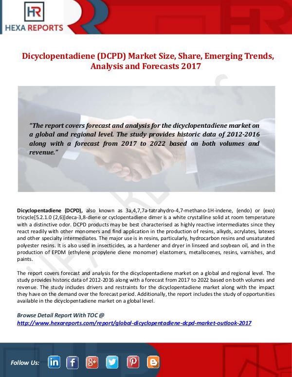 Hexa Reports Dicyclopentadiene (DCPD) Market