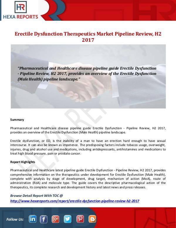 Erectile Dysfunction Therapeutics Market