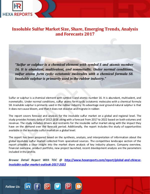 Insoluble Sulfur Market