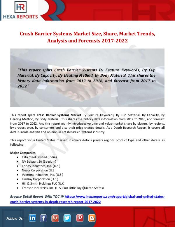 Crash Barrier Systems Market Size, Share, Market T