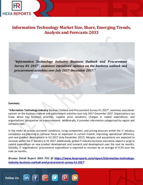 Information Technology Market Size, Share, Emergin