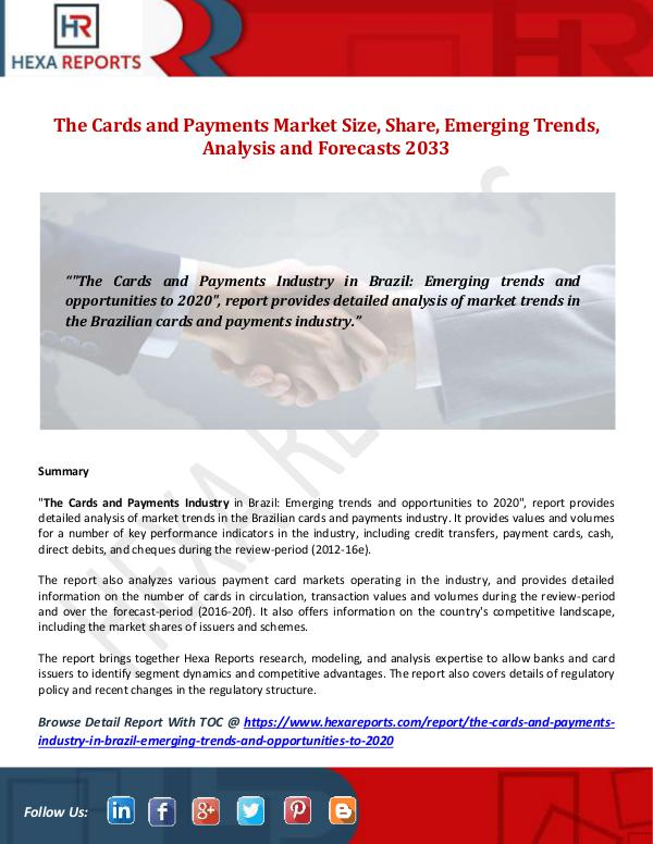 The Cards and Payments Market Size, Share, Emergin
