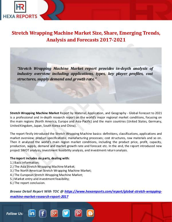 Stretch Wrapping Machine Market Size, Share, Emerg