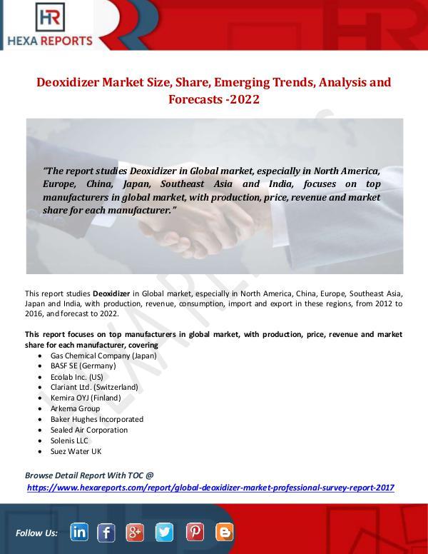 Deoxidizer Market Size, Share, Emerging Trends, An