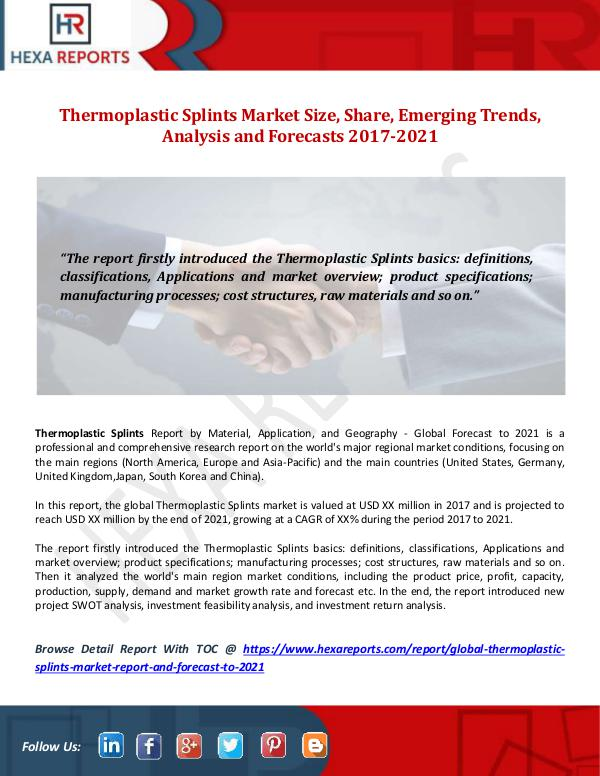 Thermoplastic Splints Market Size, Share, Emerging