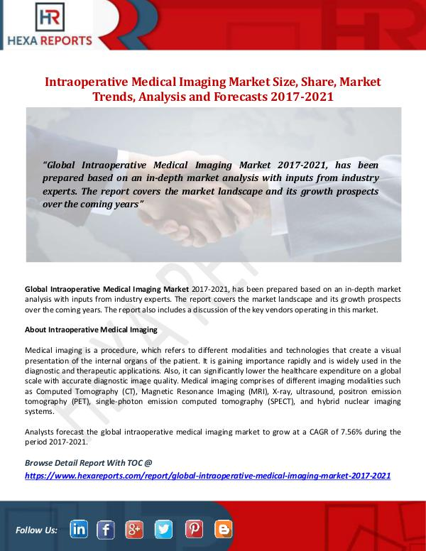Intraoperative Medical Imaging Market Size, Share,