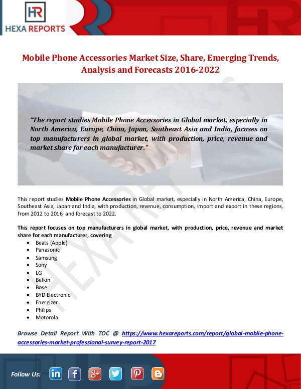 Mobile Phone Accessories Market Size, Share, Emerg