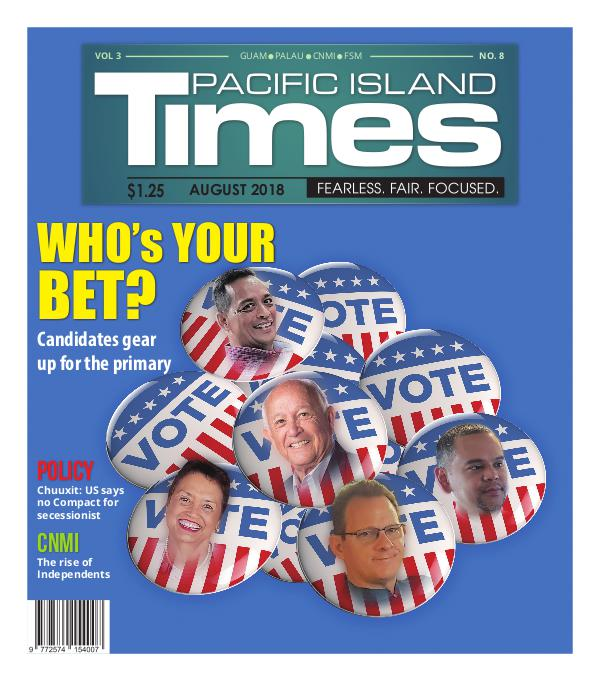 Pacific Island Times August 2018 Vol 3. No 8