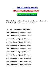 ACC 556 ASSIST Perfect Education/acc556assist.com