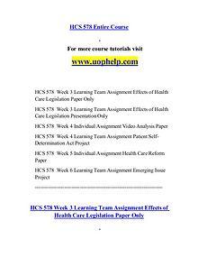 HCS 578 help Minds Online/uophelp.com