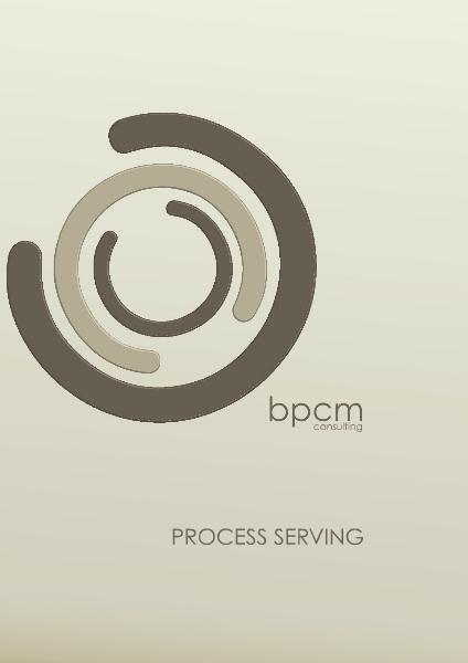 BPCM Process Serving 2014