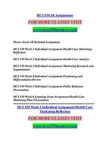 HCS 539 MENTOR Keep Learning /hcs539mentor.com