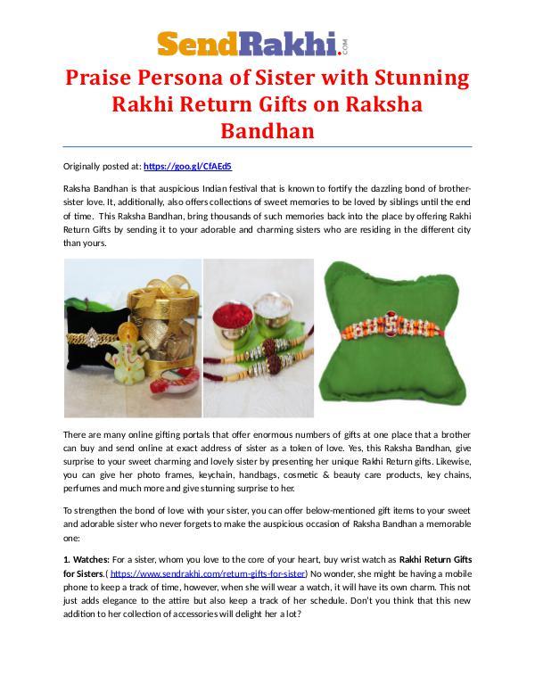 Stunning Rakhi Return Gifts on Raksha Bandhan