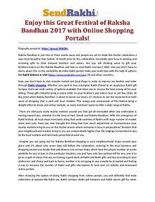 Online Rakhi shopping store