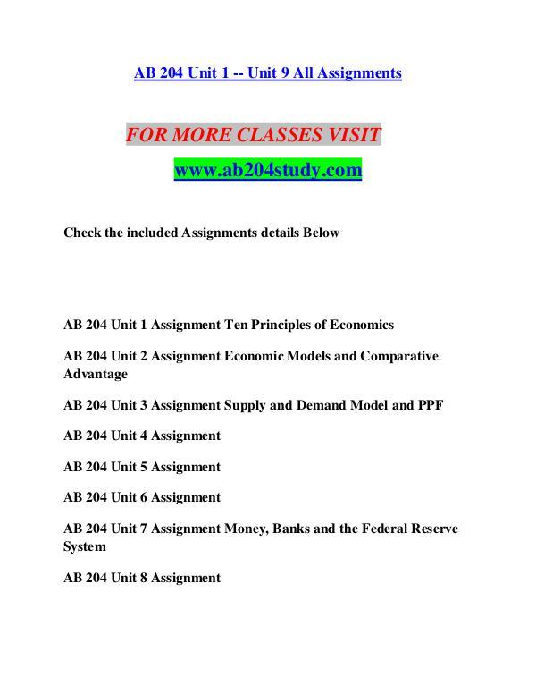 AB 204 STUDY Extraordinary Success/ab204study.com AB 204 STUDY Extraordinary Success/ab204study.com